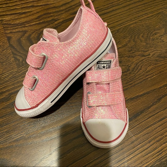 Converse Shoes | Pink Glittery Sneakers